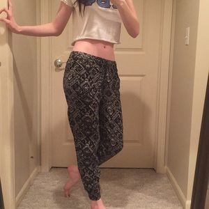 Cute patterned joggers